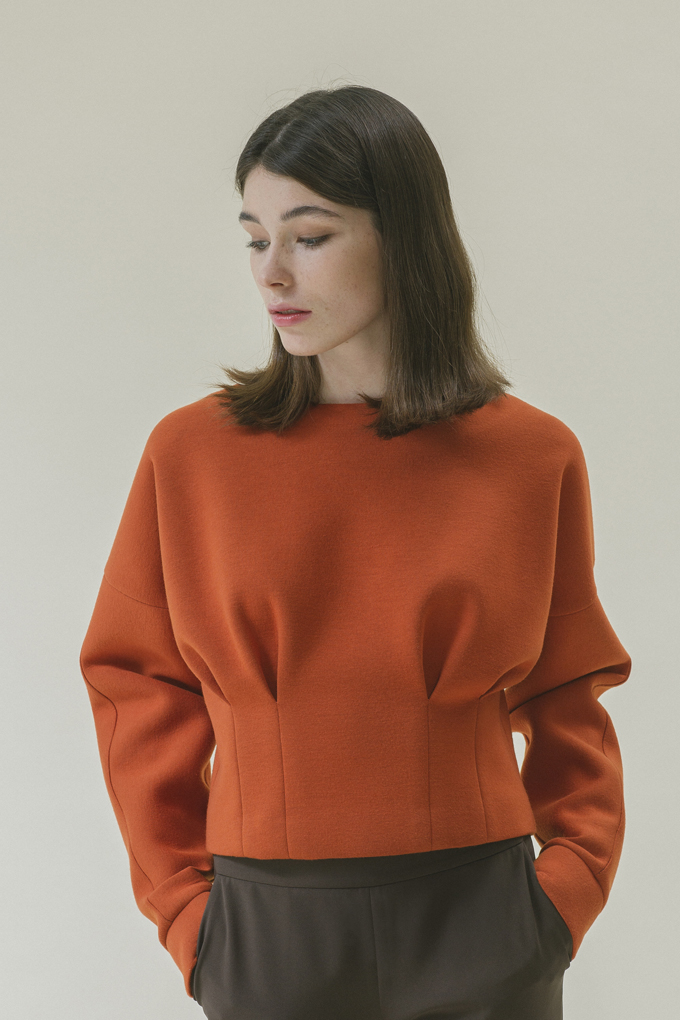 PUFF POINTED TOP - CARROT