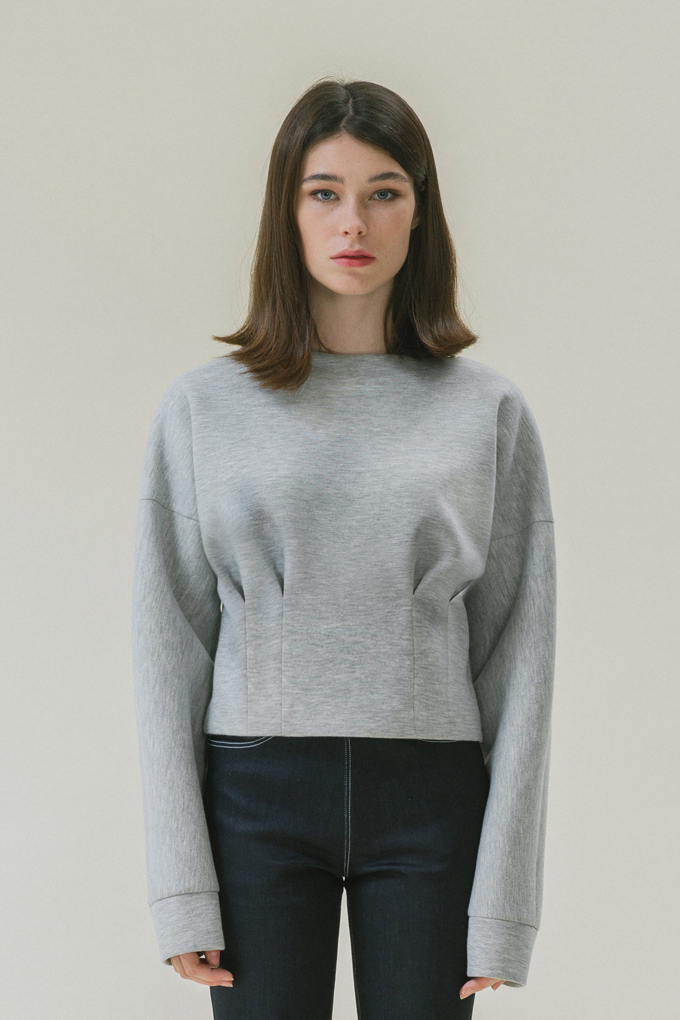 PUFF POINTED TOP - GREY
