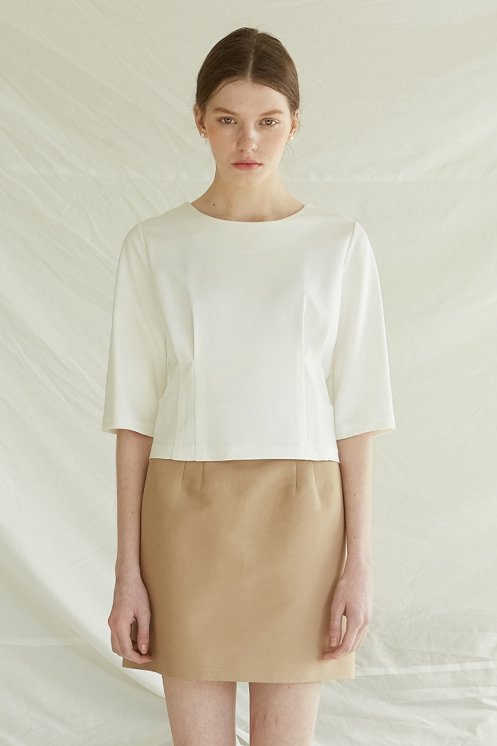 DART POINTED TOP -  IVORY