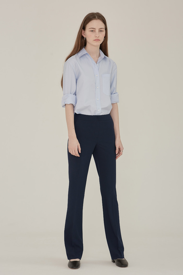 SS' SLIM BOOTS CUT TROUSERS -  NAVY
