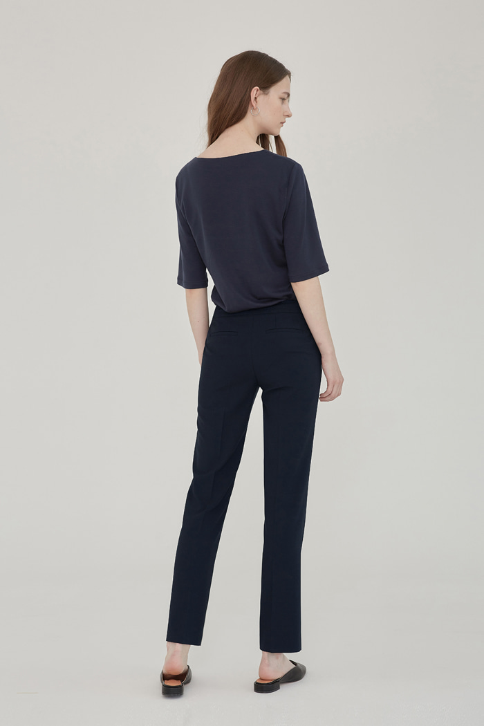 SS' PENCIL STRAIGHT TROUSERS - NAVY