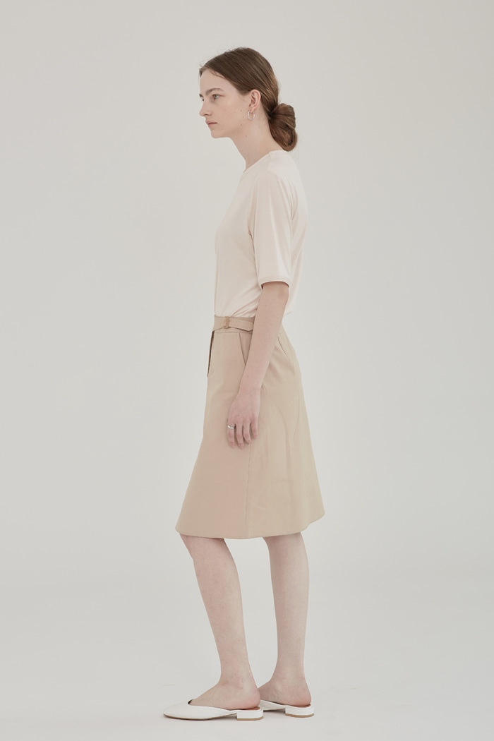 SIZE ADJUSTER SKIRT - BEIGE