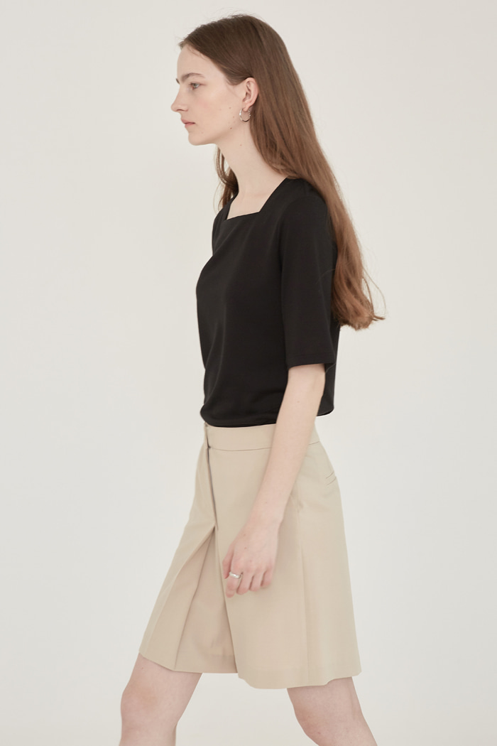 PLEATED CULOTTES - BEIGE