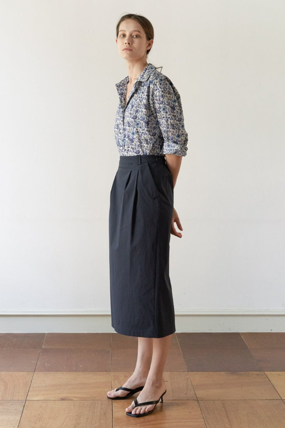 BANDING LONG SKIRT - NAVY