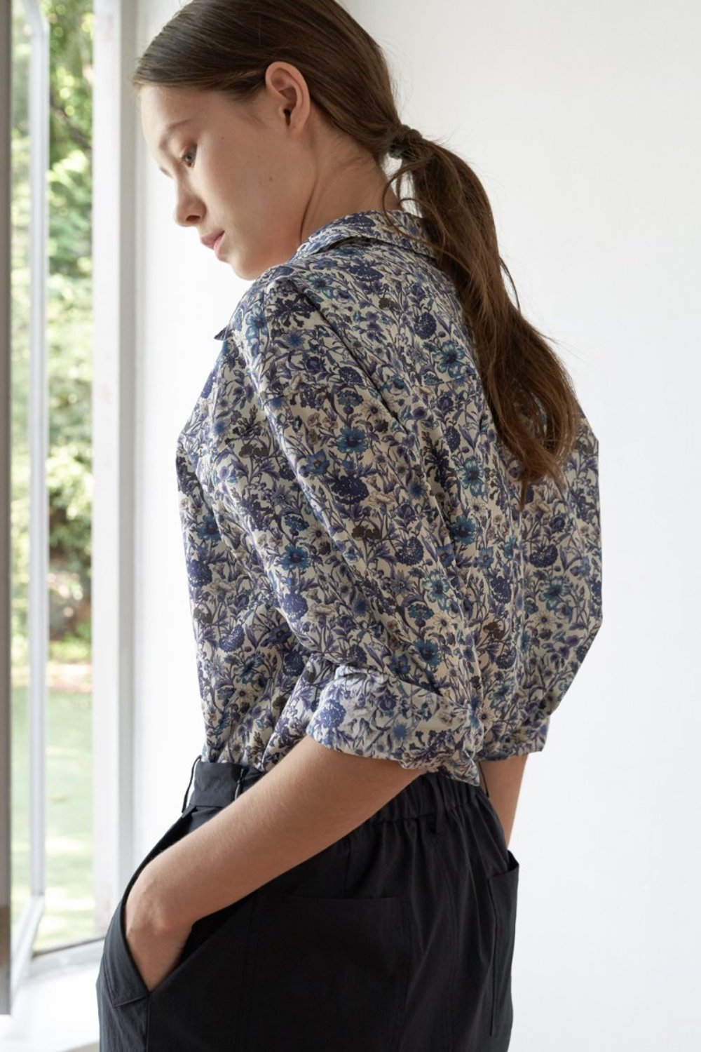 LIBERTY FLORAL SHIRT - BLOOMING BLUE